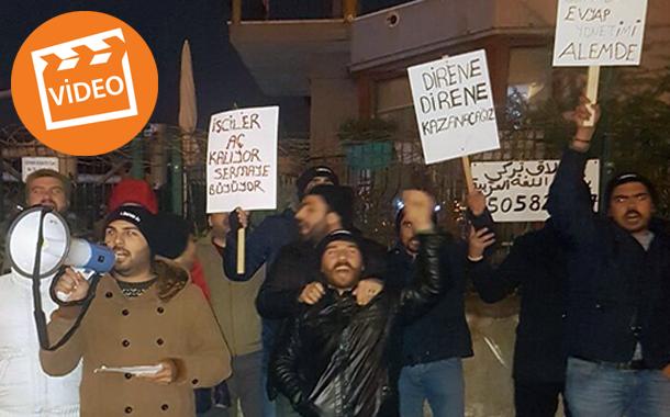 """İşten Çıkarılan Evyapport Liman İşçileri, İşverenin """"Yılbaşı Yemeği""""ni Protesto Etti"""