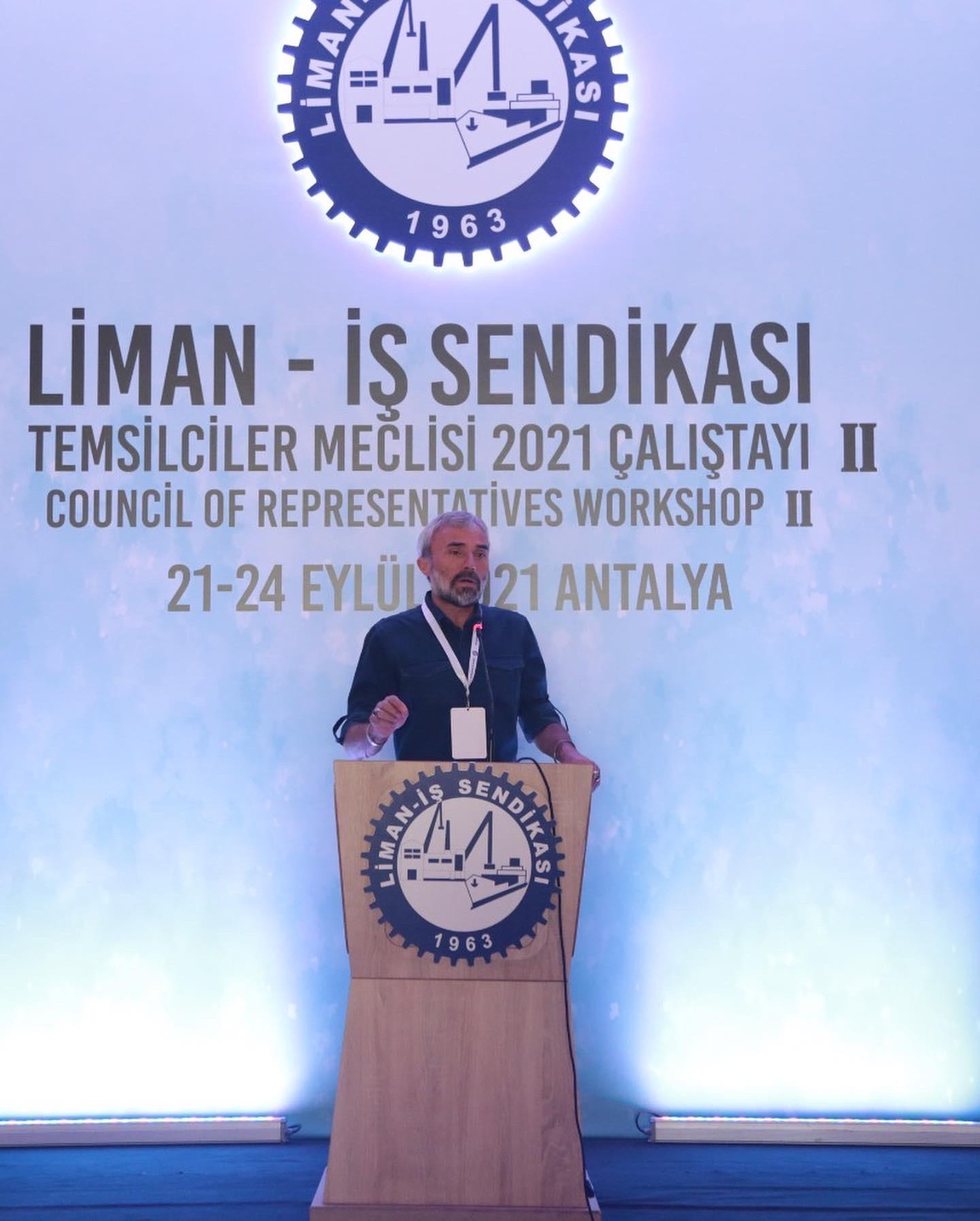 Antalya'da 21-24 Eylül tarhileri arası gerçekleşecek olan Temsilciler Meclisi Çalıştayı 2. Oturumu Genel Başkanımız Sayın Önder Avcı'nın açılış konuşması ile başladı. Temsilciler meclisi çalıştayımızın sonuçları üyelerimizle paylaşılacaktır. Temsilcilerimizin çalışmalarından görselleri paylaşmaya devam edeceğiz.  #birliktegüçlüyüz #Temsilcilermeclisiçalıştayı2021